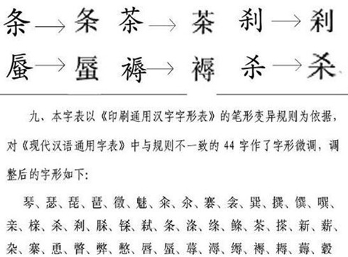 44 Chinese Characters