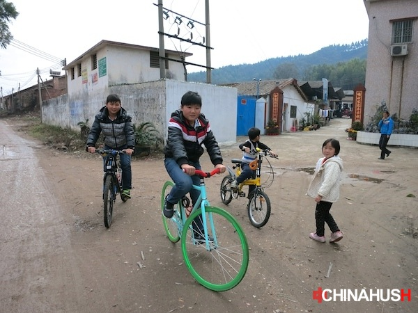 children-biking